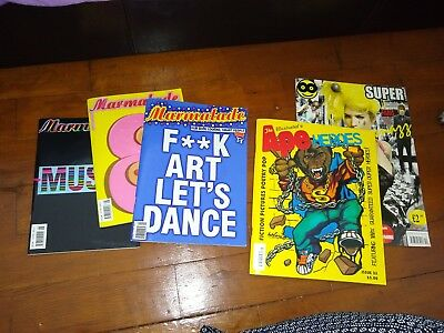 5x Arty Hipster Magazines. Marmalade And Illustrated Ape. Vintage Retro Editions