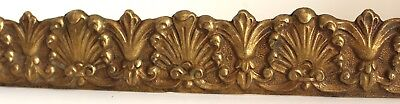 Antique Brass Furniture Mount | Single Piece W/ Fixing Holes And Bracket