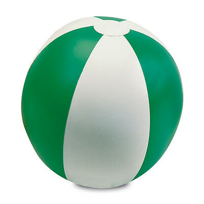 "Green 9"" Inflatable Blow Up Panel Beach Ball Holiday Swimming Pool Party Toy Uk"