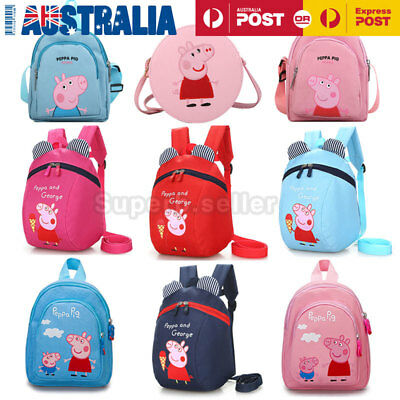 Children/Kids/Toddler Peppa Pig Backpack/Shoulder Bag Safety Strap Harness Gift