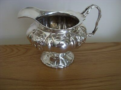 A Large And Superb Quality Solid Silver Victorian Embossed Cream Jug London 1839