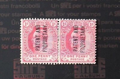 Cape of good hope 1909 1d patent & proprietary stamps pair used