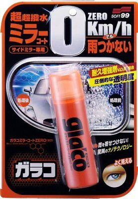 Soft99 Glaco Zero Glass Stain Cleaner Water Repellent Mirror Camera Coat Car JDM