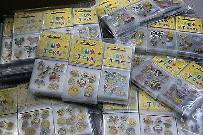 Assorted Stickers 72 Individual Mini Packs (6 Dozen) Free UK Delivery! Loot Bags