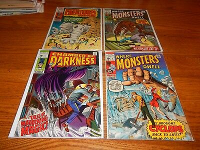 LOT OF 4 Silver Age  HORROR Comics With 2 Key # 1 Issues Mid-Grade & Better Cd.