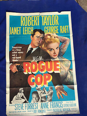 ORIGINAL one sheetl MOVIE POSTER police ROGUE COP janet leigh 1954