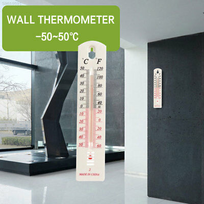07F6 White -50~50℃ Creative Digital Temperature Gauge Wall Thermometer Office