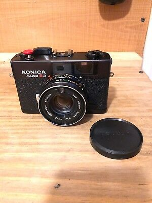 Konica AUTO S3 (C35FD) Rangefinder Like Mint (Exc++) & (Exc++)Leather Case CLA'd