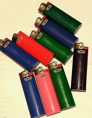 REGULAR FULL SIZE BIC Lighter 10 Lighters Assorted Colors and styles
