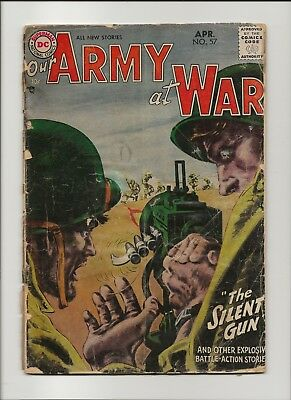 Our Army at War 57 Fair 1.0 Pre-Sgt Rock & Easy Co Grey Tone Cover 1957