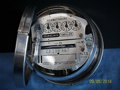 Duncan/Landis & Gyr Type MS-II or MS, 240 v, 200 a, 3 Wire Meter W/ Mounting