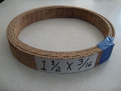 "Woven Hd Brake And Clutch Lining Material 1 1/2"" Wide X 3/16"", Sold By The Foot"