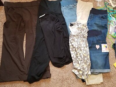 Womens 8pc Mixed Maternity Lot Preowned