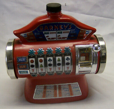 SALE>>$>>$>>Barneys Casino Slot Machine Decanter by Regal China in 1978