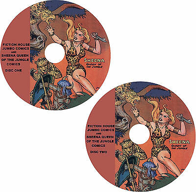Sheena Queen of The Jungle & Jumbo Comic Books on 2 DVDs 170 issues in all