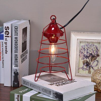 ORE International Red Camp Lantern Table Lamp