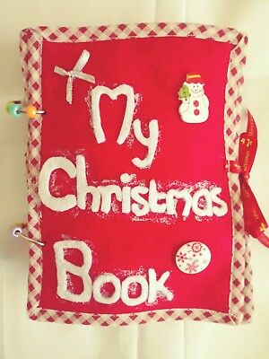 Christmas Quiet Book, Busy Book, 10 pages, Handmade, Activity Book, Free Post