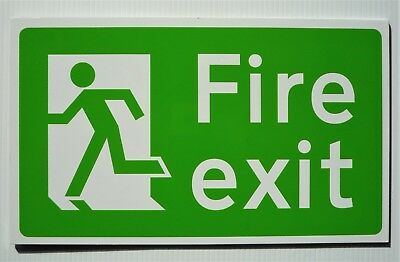 Fire Exit Safety Sign (Running Man Fire Exit Sign) on 3mm aluminium (pack of 3)