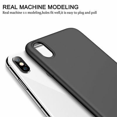 For iPhone XS Max XR 7 8 Plus 6S Matte Slim Silicone Rubber Soft Thin Case Cover
