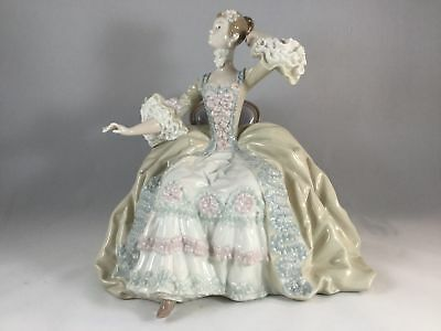 Lladro Porcelain Figurine Lady at Dressing Table 1242 Lady ONLY Missing Table