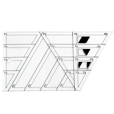 DIY Quilting Sewing Patchwork Scale Ruler Trapezoid Polygon Foot Ladder Tai J5B1
