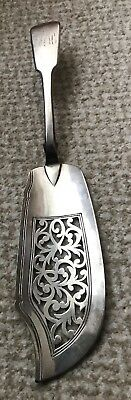 Large Antique Heavy Solid Silver Fish Slice/ Server 1850 London
