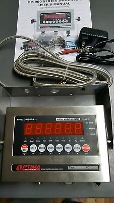 NEW OPTIMA  OP-900A-11  SS  Scale Digital Weighing Indicator +Surge Protector