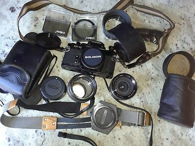 Ricoh Kr10 Camera Used W/Accessories Unknown If works Estate Sale Purchased