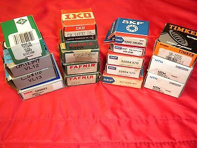 Miscellaneous Bearings (LOT of 17)  Fafnir / SKF / Timken / INA  New in Box