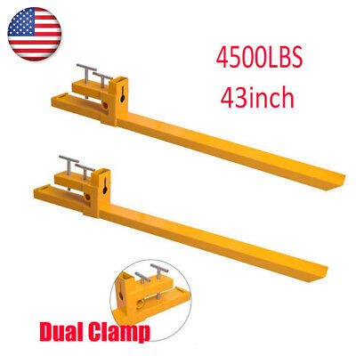 2000lbs/3500lbs/4500lbs Capacity Forks Clamp On Pallet Heavy Duty Bucket Loader
