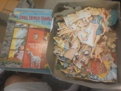 Paper doll lot variety 100s of pieces  over 100 dolls, 100+ outfits  and books
