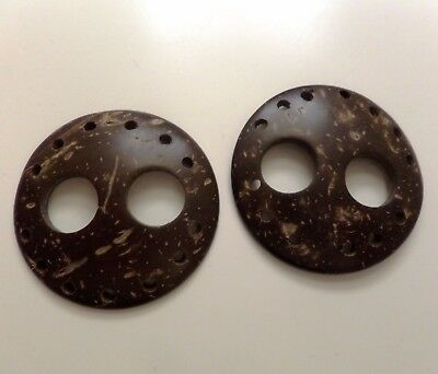 TWO Sarong Scarf Coconut Shell Buckles. UK Seller - Fast Delivery.