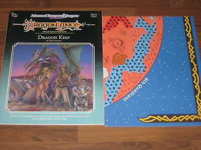 AD&D 2nd Edition Dragonlance DLE3 Dragon Keep Adventure 1989 TSR 9245 + Map