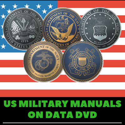 US Military Manuals - 675 Rare Vintage Manuals on 2 Data DVD's Combat & Training