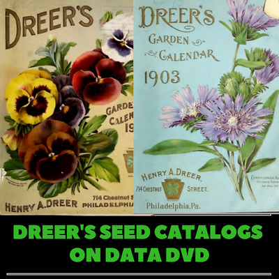 352 Dreer's Seed Catalogues  - Catalog Gardening Plants Guides Bulbs  1 Data DVD