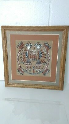 Native American Navajo Sand Painting Collectible Art Authentic.