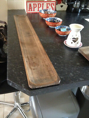 vintage wooden French Baguette Tray from around 1920s/30s