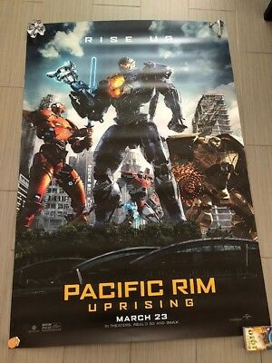 """PACIFIC RIM UPRISING Authentic Movie Poster Used In Theater 70"""" x 48"""""""
