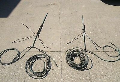 """Antique Wound Copper Lightning Rod Cable 61' Feet 1/2"""" Diameter Ball Vintage"""