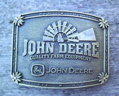 John Deere Tractor Belt Buckle Windmill Bronze NEW