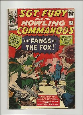 Sgt. Fury and his Howling Commandos 6 VG- 3.5 Jack Kirby 1964 Nick