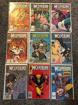 Wolverine Lot Of (9) Issue #'s 9,11,12,13,14,15,16,17,18
