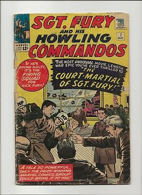 Sgt. Fury and his Howling Commandos 7 F/G 1.5 Jack Kirby 1964 Nick