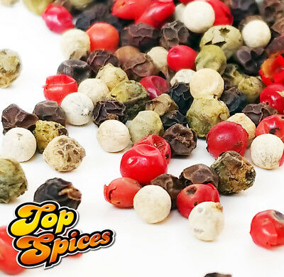 Mixed Peppercorn 4 Colour Mix Whole **Top Quality** (20G - 1.9 Kg)