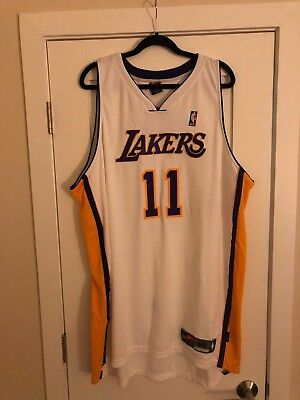 2760c2930d5 Karl Malone #11 NBA Nike Authentic Los Angeles Lakers Home White Jersey 56  NWT