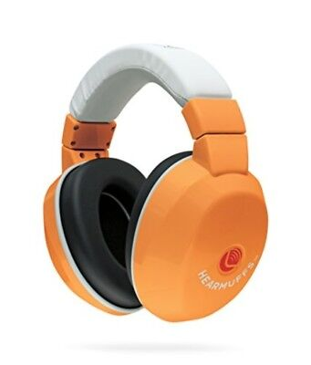 Lucid Audio HearMuffs Kids Hearing Protection Orange/White Over-the-ear Protect