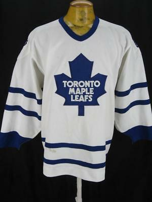 Authentic Vintage Toronto Maple Leafs CCM Fight Strap NHL Hockey Jersey 48