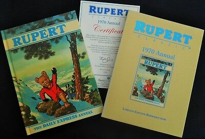 Superb Mint 1970 Rupert Bear Limited Edition Facsimilie Annual With Slip Case