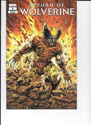 Lot of 2 Return of Wolverine 1 (2018) 1 Regular & 1 Costume Variant