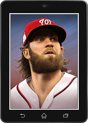 Topps BUNT Bryce Harper PORTRAITS BY PEPE 2018 [DIGITAL CARD] 250cc